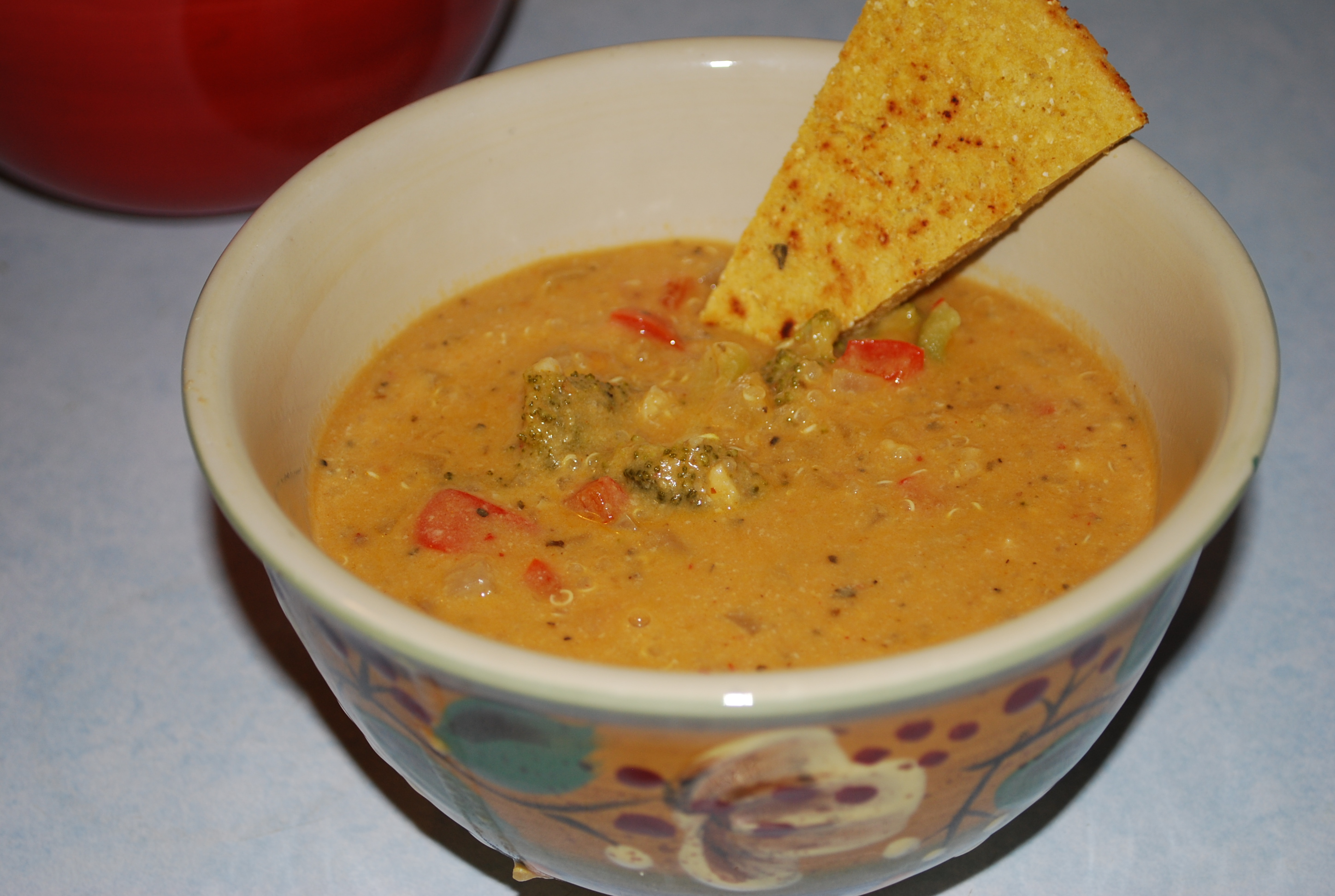 used a batch of Chipotle Hummus to flavor this soup per the recipe ...