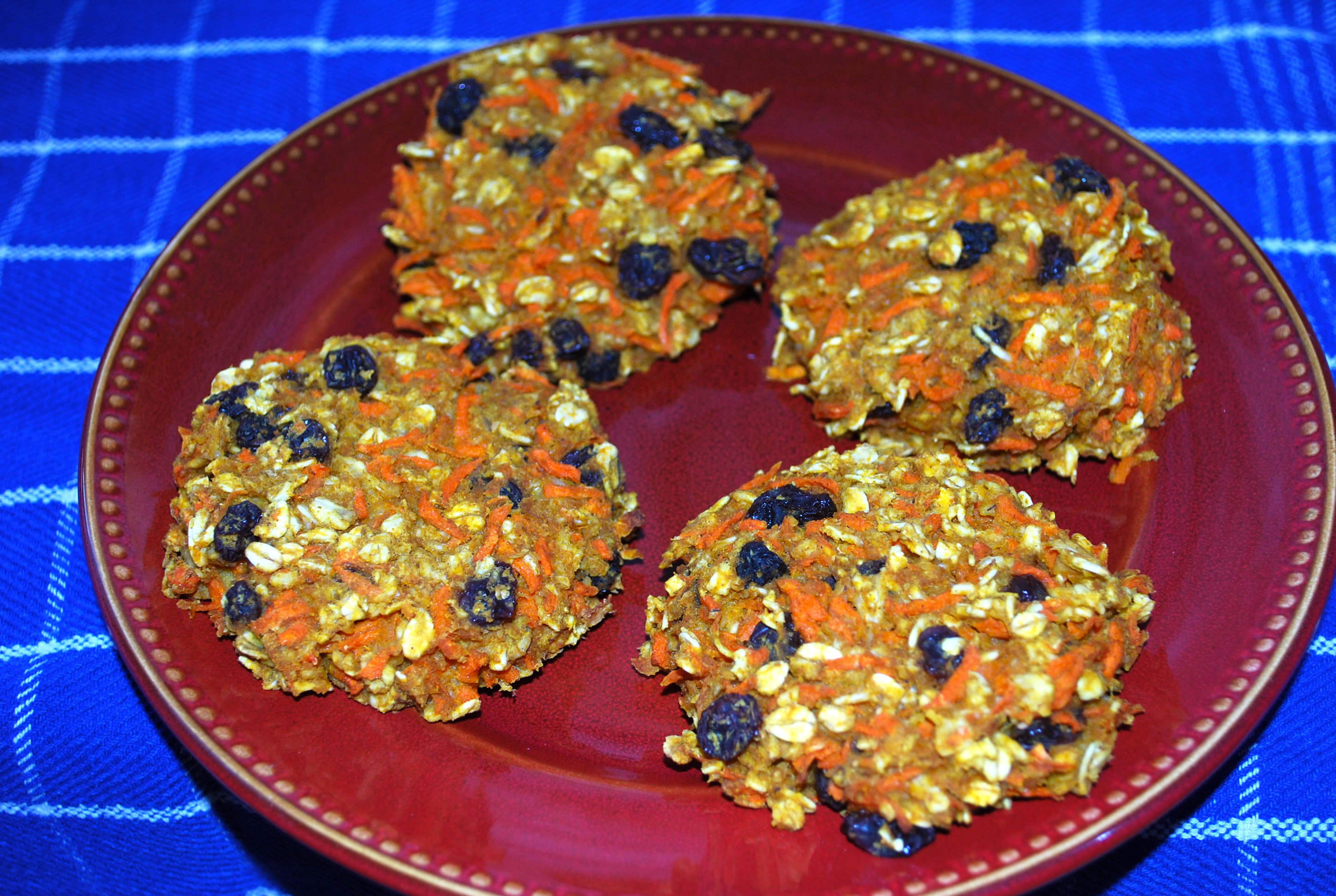 "Carrot Oatmeal Breakfast ""Cookies"" 