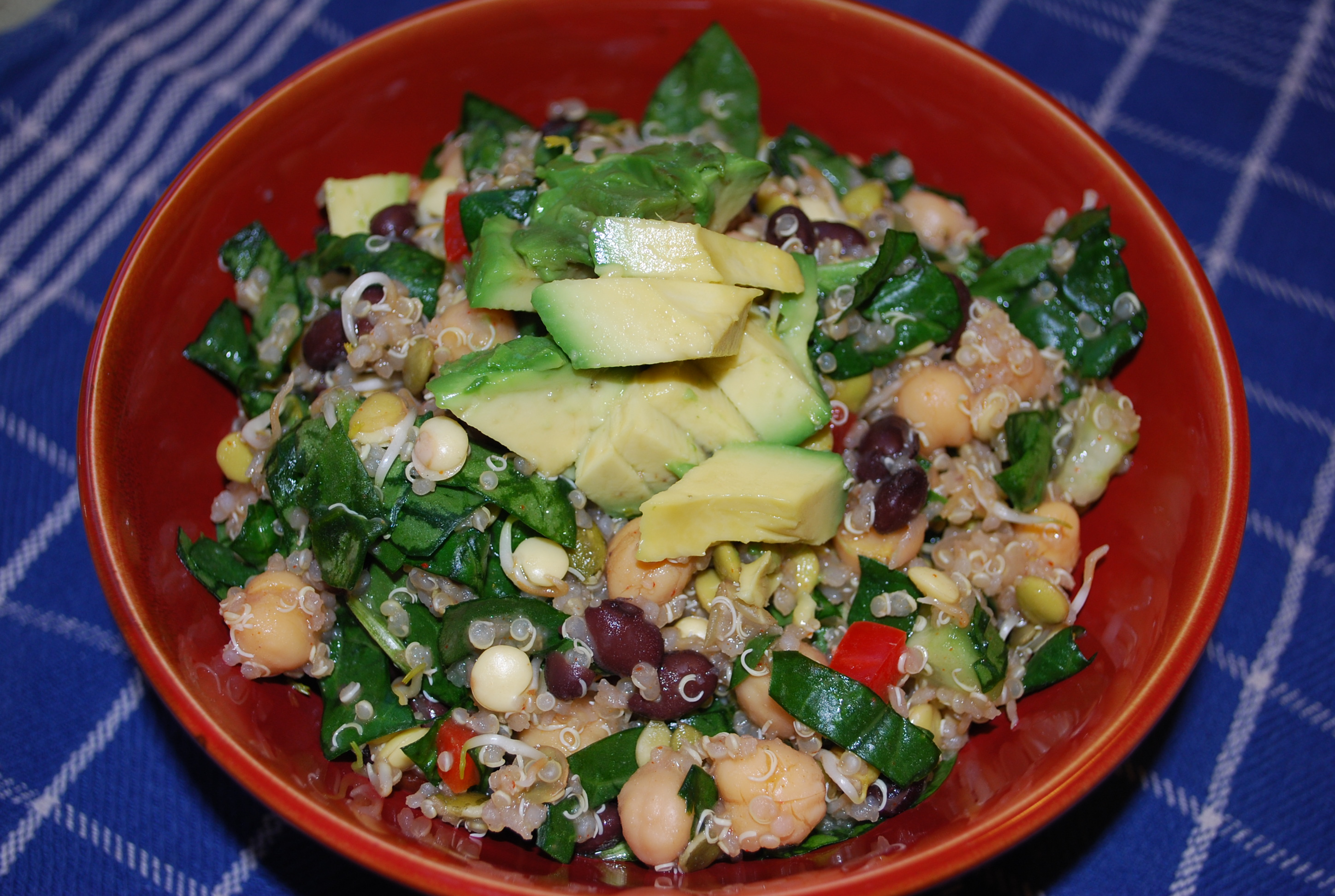 Fiesta Bean Salad with Basil Lime Dressing