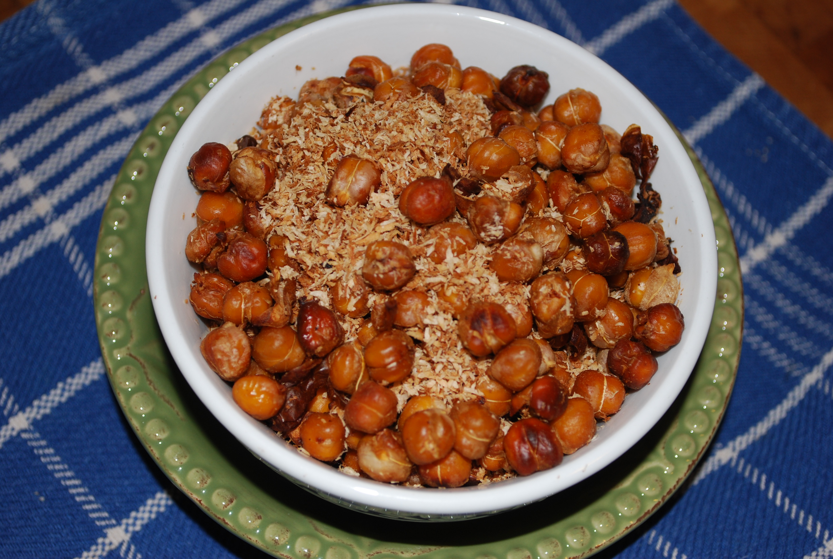 "Coconut ""Bacon"" Roasted Chickpeas"