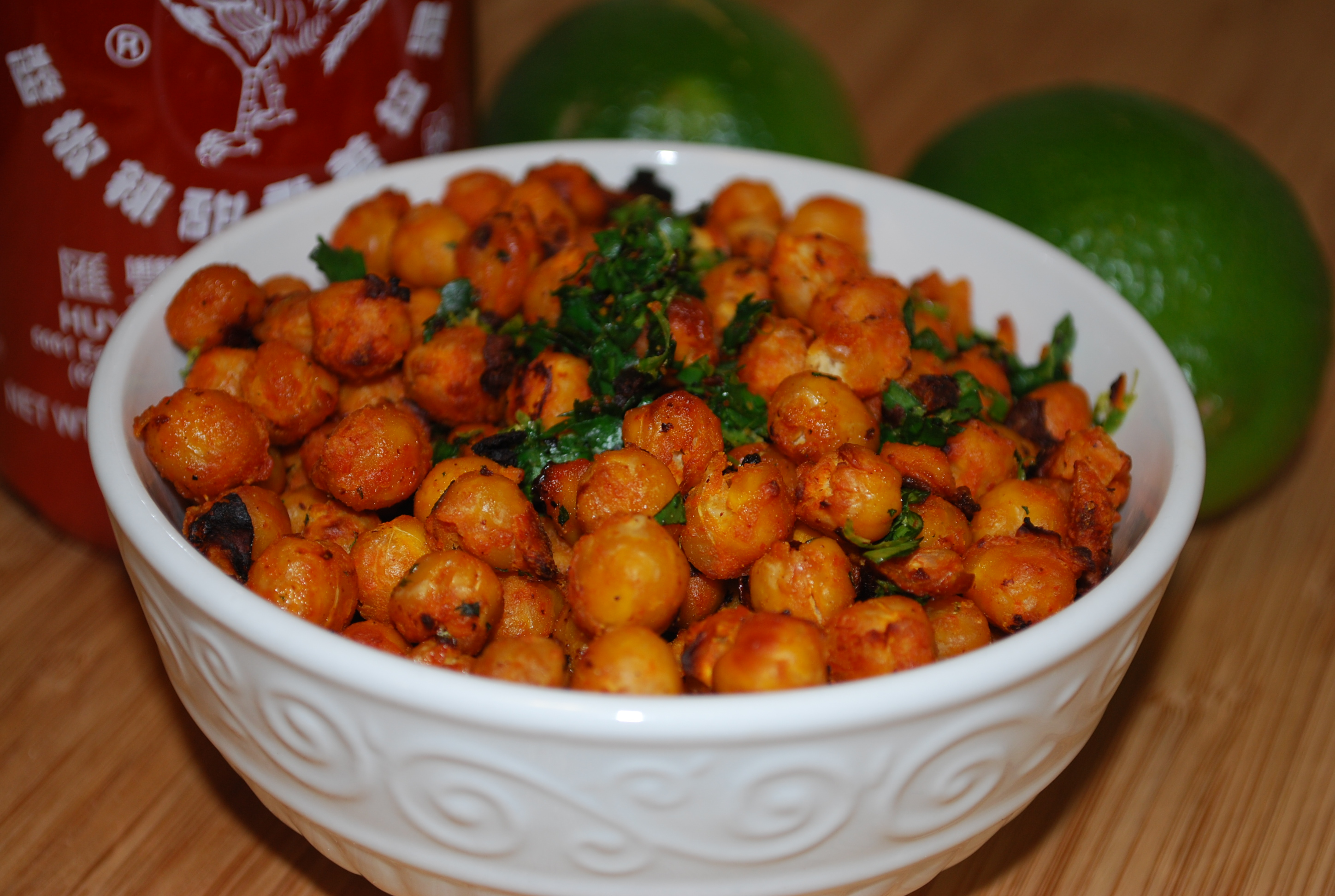 Sriracha Lime Roasted Chickpeas