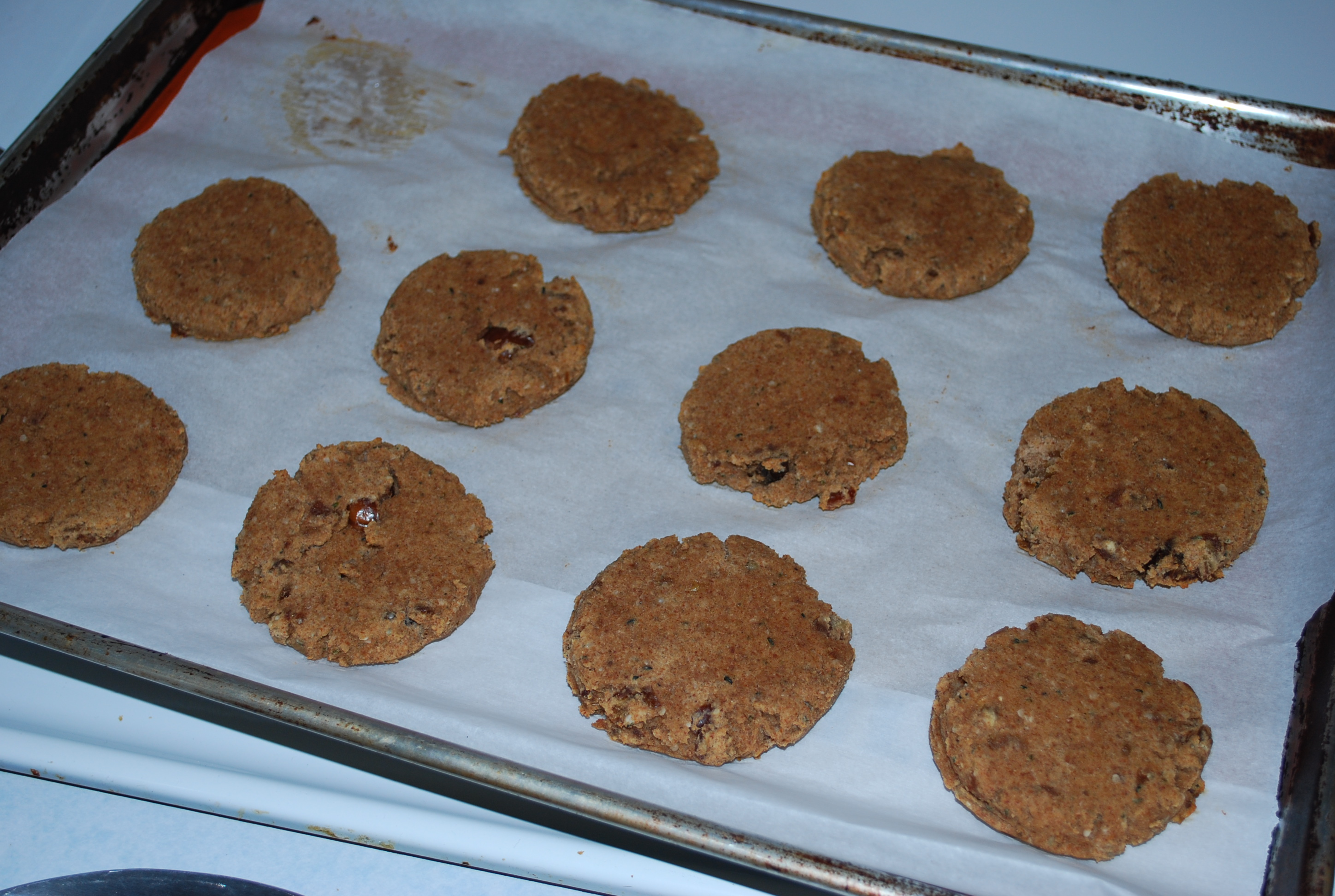 Bake for 25-30 mins or until lightly brown. Let cool on tray for 10-15 minutes before removing
