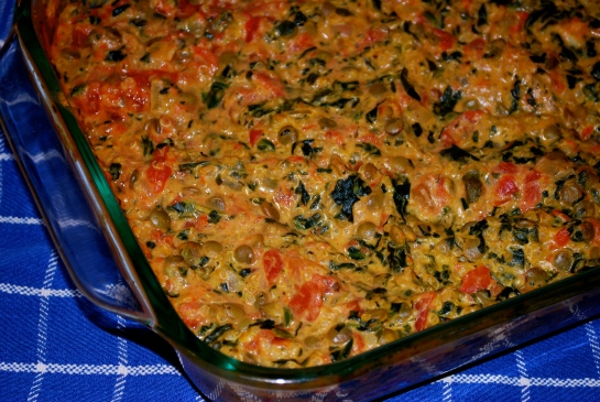 Quinoa & Lentil Bake with Spinach & Tomatoes